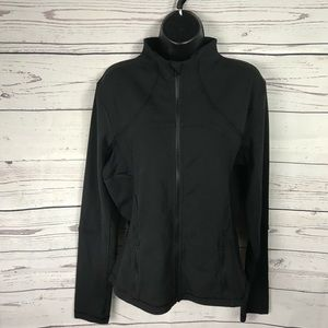 Lululemon Black Zip Up Jacket Size 12